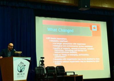 Dr. Ken Reimer explaining the RTI Model Assumptions