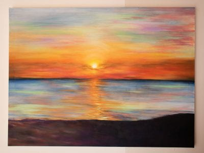 Oil Painting of Cypriot Sunset