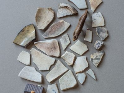 Photograph of fragments of pottery