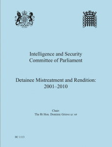 Intelligence and Security Report on Detainee Mistreatment and Rendition