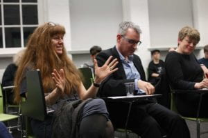 From left to right: Prof Jackie Hodgson, Richard Glover and Hannah Quirk