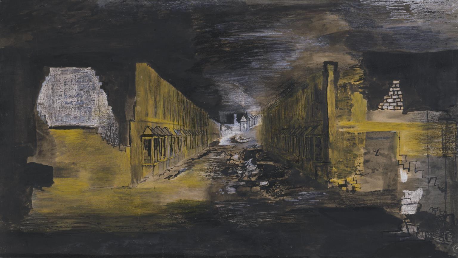 Devastation, 1941: An East End Street 1941 Graham Sutherland OM 1903-1980 Presented by the War Artists Advisory Committee 1946 http://www.tate.org.uk/art/work/N05736