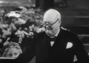 Churchill'smischievouslookPathe
