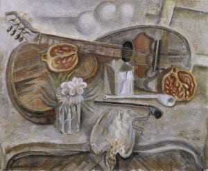 Pedestal Table in the Studio 1922 André Masson 1896-1987 Bequeathed by Elly Kahnweiler 1991 to form part of the gift of Gustav and Elly Kahnweiler, accessioned 1994 http://www.tate.org.uk/art/work/T06819