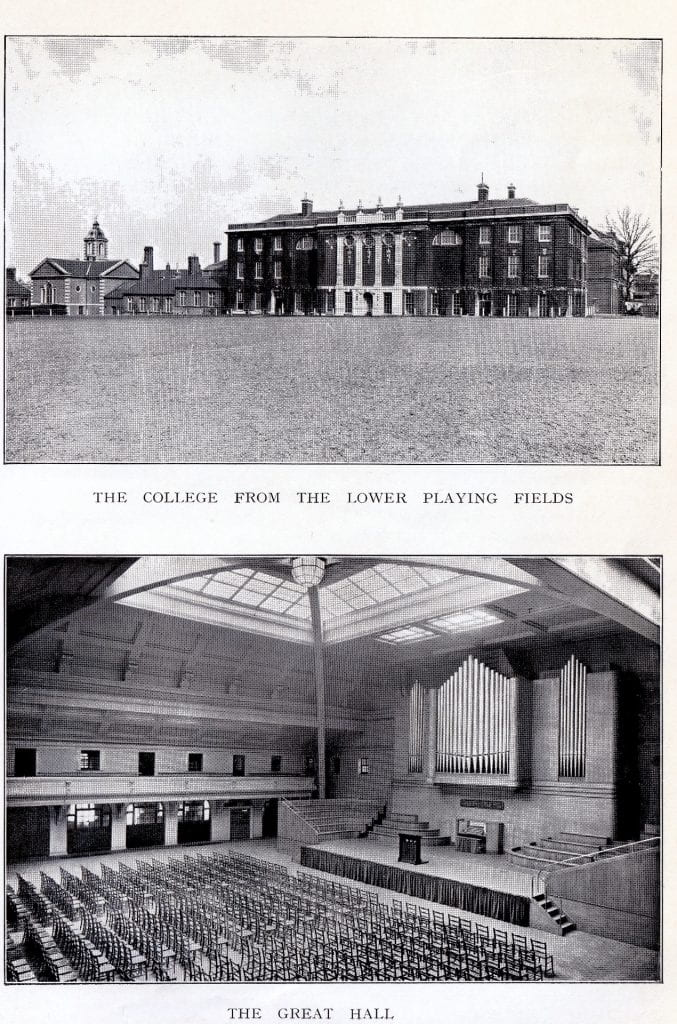 What was being left behind in 1939. Goldsmiths' College before Deptford Council and the RAF moved in. The back field would be ploughed up. The upper field wrecked with building projects. The Great Hall became a temporary warehouse for 'stuff' that needed to go to Nottingham- books, cutlery, crockery, bedding and equipment.