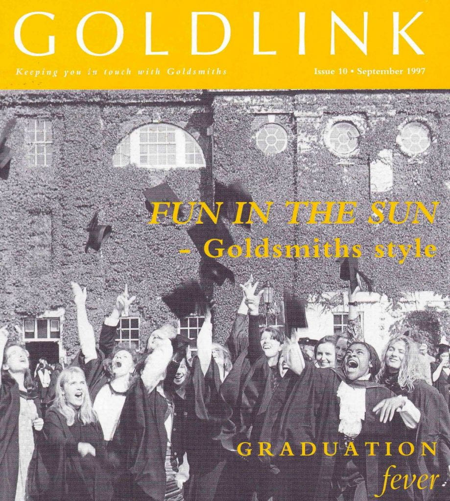 Goldsmiths students in graduation ceremony on the green in 1997