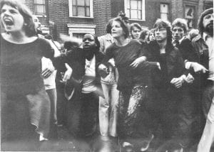 Anti-racist protestors, New Cross Road, 13 Aug. 1977 (©Peter Marlow)