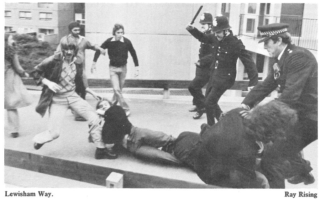 Clashes between police and anti-racists, Lewisham Way, 13 Aug. 1977 (© Ray Rising)