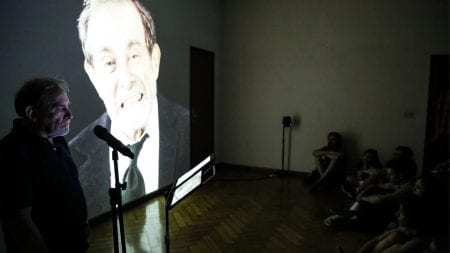 The Feminist Call and the Crying Perpetrator with credit to the Museum of Memory, Buenos Aires