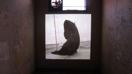 Photo of dark sack at the shore