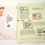 one of the Mail Art envelopes unpacked to show illustrated letter