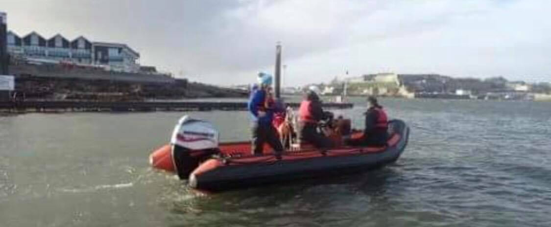 me driving the power boat