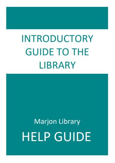 Front Cover: Introductory Guide to the Library, click to open pdf