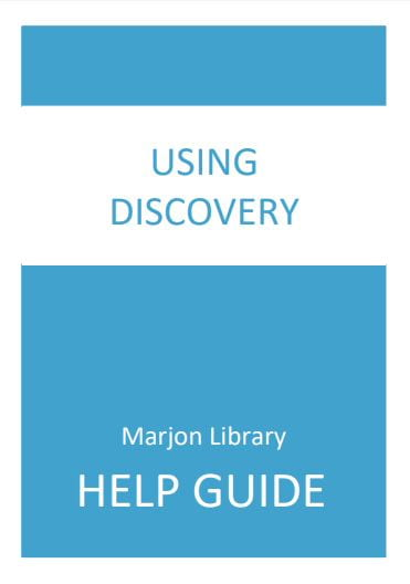 Front Cover: Using Discovery, click to open pdf