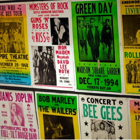 Image showing various music posters