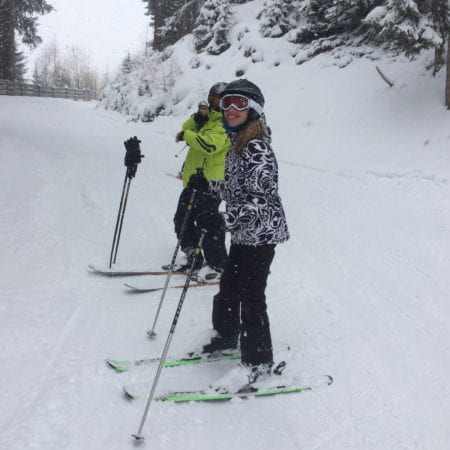Image showing a student skiing