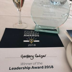 geoffery gulzar inspiring student award