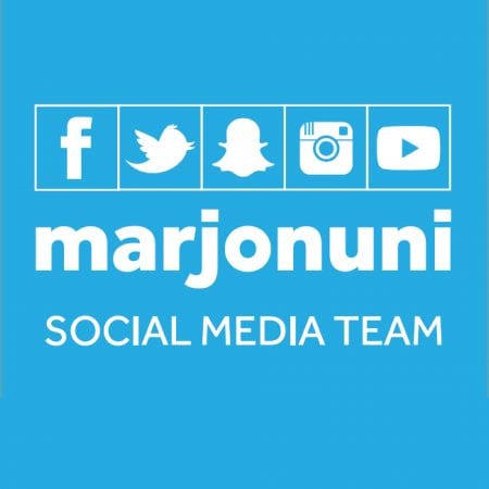 Imge shows the Marjon social media team logo