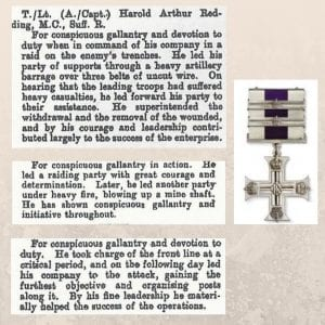 harold redding military cross