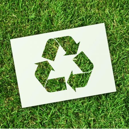 Image shows recycle reuse graphic