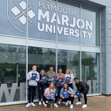 Image showing Marjon students