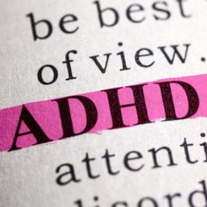 highlighted text that reads adhd