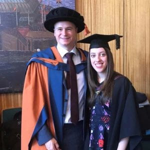maddy and phil at graduation