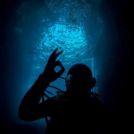 diver gives ok sign