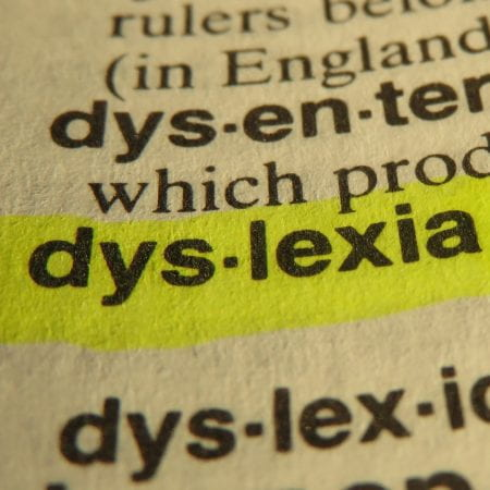 the word dyslexia highlighted in a dictionary a