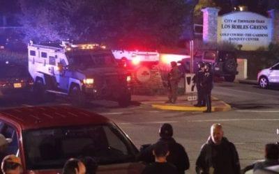 Gunman slaughters 12 suspected students at California bar