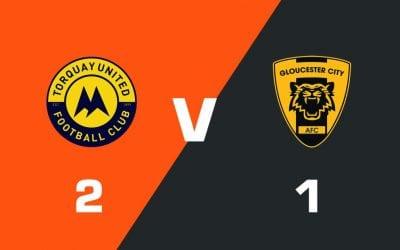 MATCH REPORT: Torquay United 2 – 1 Gloucester City