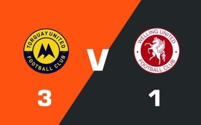 MATCH REPORT: Torquay United 3 – 1 Welling United
