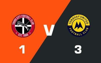 MATCH REPORT: Truro City 1 – 3 Torquay United