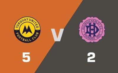 MATCH REPORT: Torquay United 5 – 2 Dulwich Hamlet