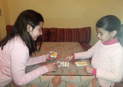 pupils playing educational games