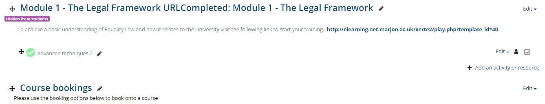 Move a course