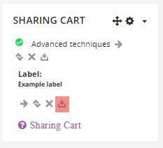 Sharing cart
