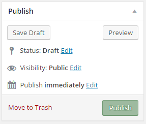 publish menu