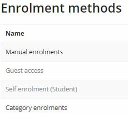 Enrolment methods
