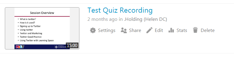 Google Apps and REPLAY: Adding a google form/quiz to a