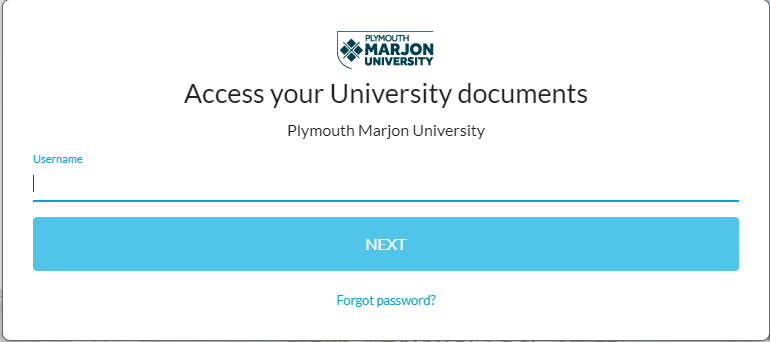 Image of PMU drives login page
