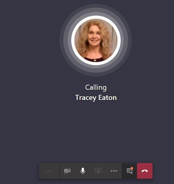 screenshot showing calling