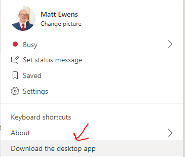 Download desktop app link