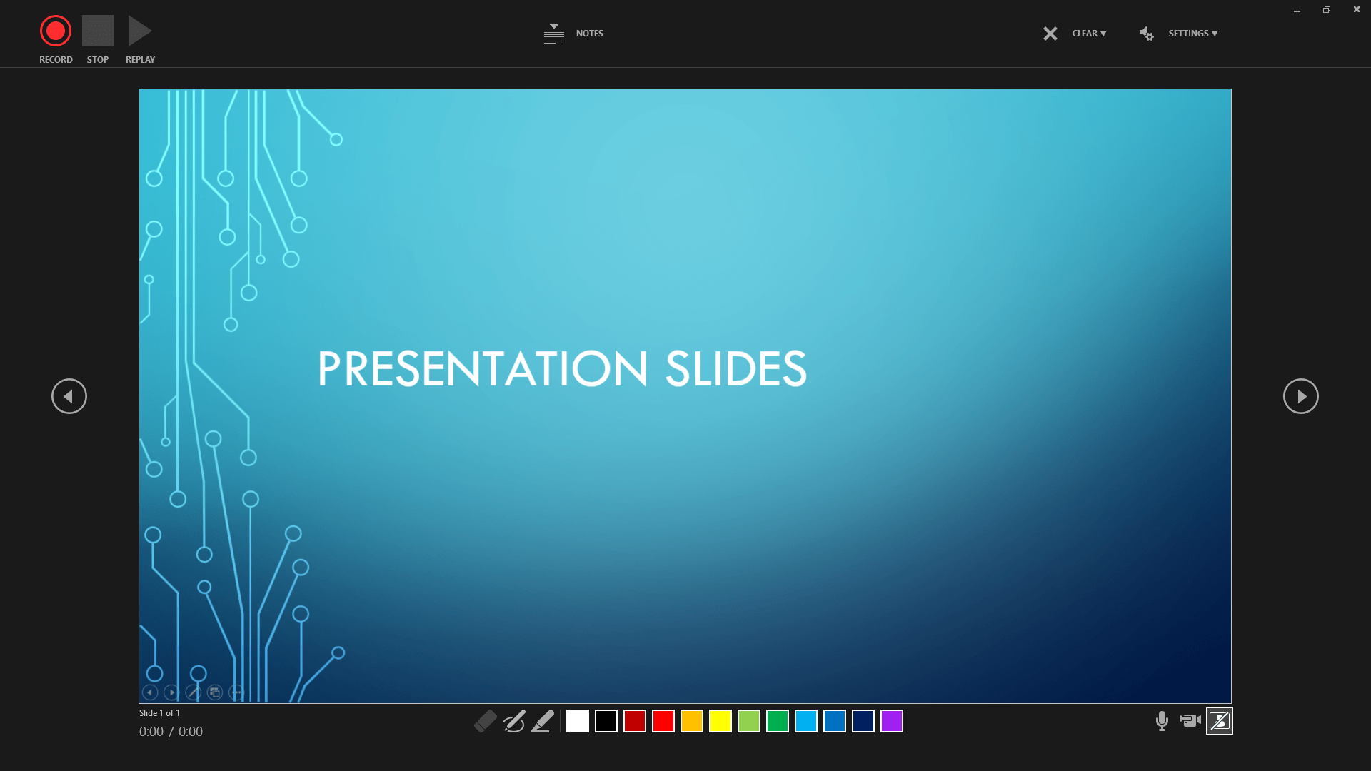 Example of record view Powerpoint