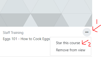 image showing star this course option