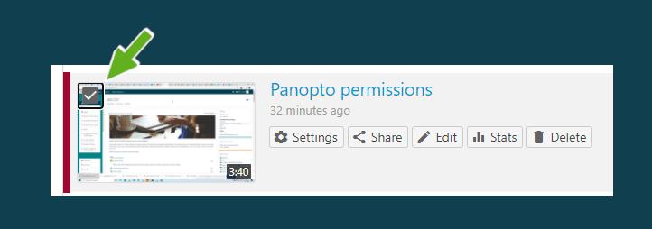 Panopto permissions