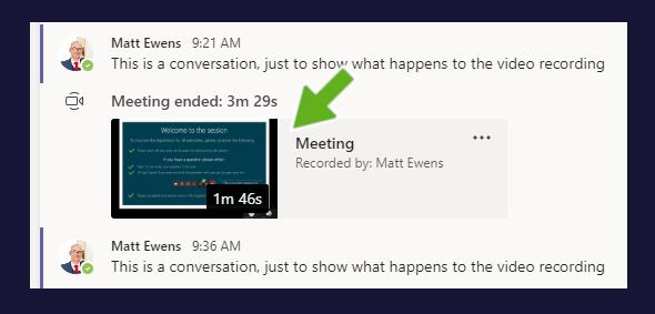 Meeting recording example