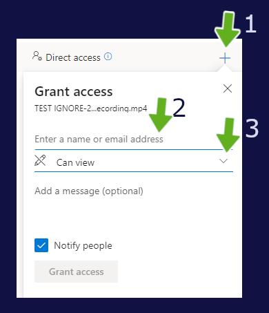 granting access