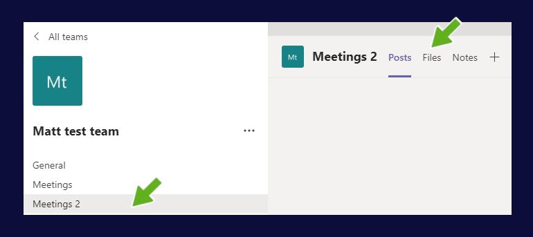 Files menu
