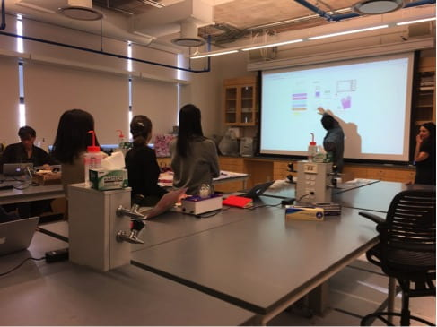 Amino Labs – Engineer Your Own Colours Workshop. Photo courtesy of Julie Leggett and Dr Justin Pahara